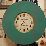 old LA green coloured clock
