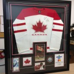 custom framed team canada hockey jersey
