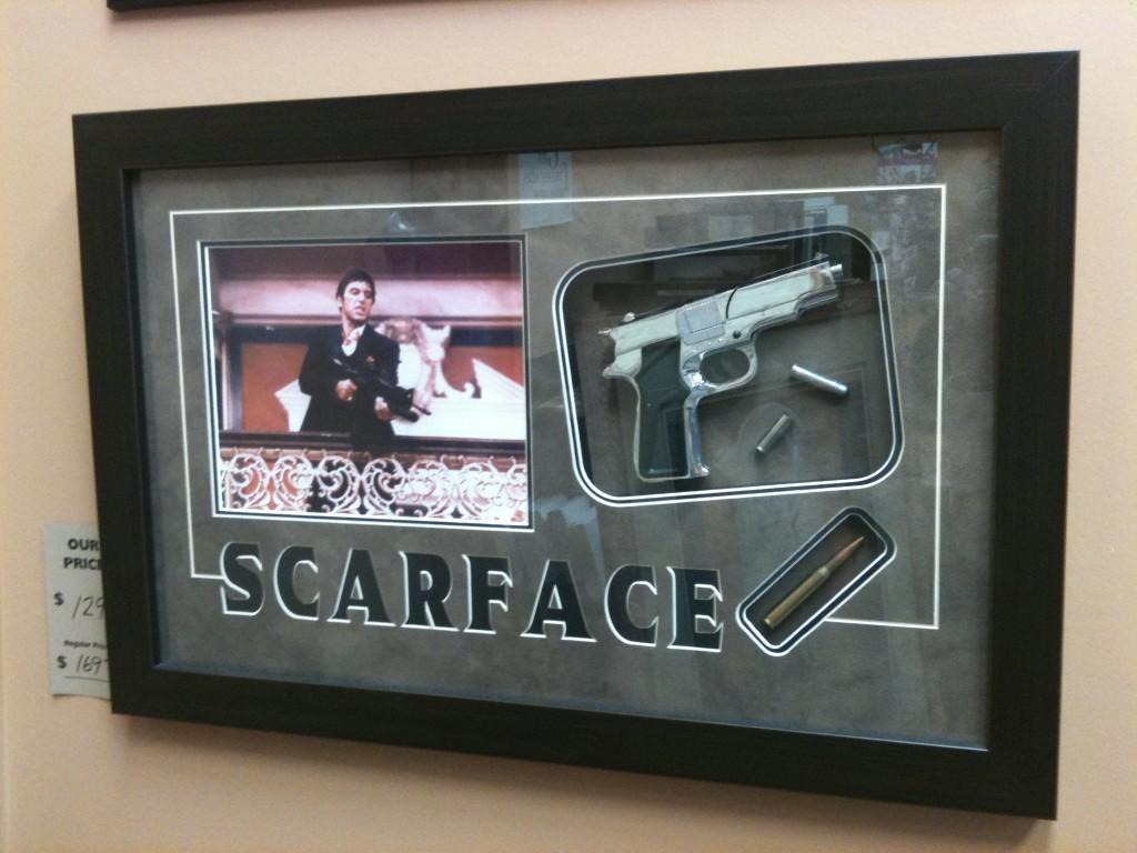 Scarface shadowbox arcon picture frames custom scarface frame jeuxipadfo Images