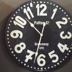 custom wall clock new york style