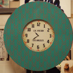 old LA green coloured clock