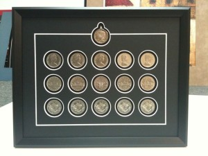 custom collectible coin frames