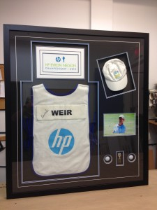 custom framed sports collectables