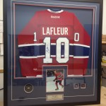 custom frame for autographed habs jersey