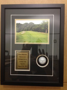 Custom Framed Golf Ball