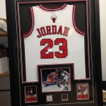 Custom Framed Jordan jersey