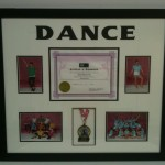 dance certificates custom frames