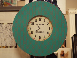 custom antique LA wall clock