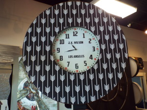 custom LA wall clock