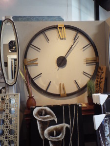 large wall clock with no backing