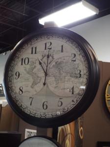 map of the world custom clock